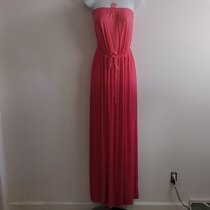Sz Large ombre peach to pink Maxi dress